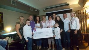 Super proud moment handing over a cheque for a whooping €15,380 to Mayo Roscommon Hospice.