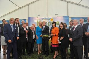 Joe's Backing Mayo on sunday. Former US Vice President Joe Biden was in Castlebar yesterday (today) to officially turn the sod on the new Mayo Roscommon Hospice facility, pictured with board members and staff of Mayo Roscommon Hospice. Pic Conor McKeown