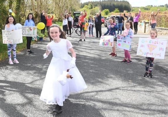 Eloise's first 10km in her Communion Dress