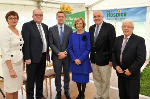 Pictured attending the officially 'Sod Turing ' on the new Mayo Roscommon Hospice facility in Castlebar were Mary and Mike Smith, Mark Kavanagh, Milly and John Murphy and Damien Sleator.Pic Conor McKeown