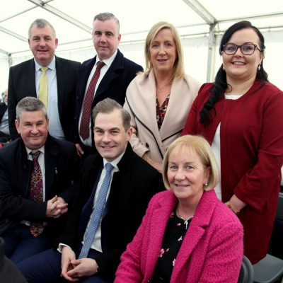 Representitives from Bank of Ireland: Front; Rory Curran, Brian Moran and Mary Doherty. Back:Jim O'Shea, Michael Costello, Annette CAnty and Deborah O'Hara.