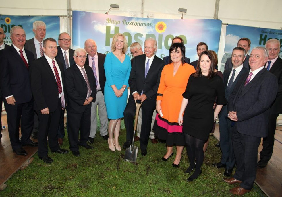 VP Biden turning the sod with the board of Hospice Pic by Trisha Forde